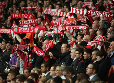 The Hillsborough memorial service at Anfield last year