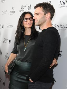 The former Friends star, 49, has been dating Snow Patrol rocker Johnny McDaid for around five months now. (Photo by Angela Weiss/Getty Images for Tribeca Film Festival)