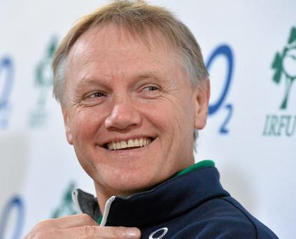 18 March 2014; Ireland head coach Joe Schmidt