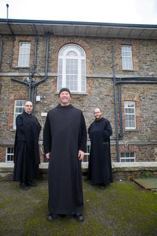 Brother James, Dom Mark Daniel Kirby and Brother Benedict. Photo: Barry Cronin
