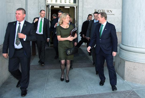 US ambassador Anne Anderson pictured with Taoiseach Enda Kenny in the US this week. Picture: Marty Katz