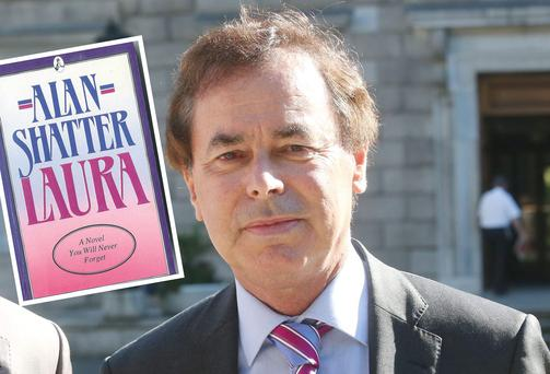 Justice Minister Alan Shatter and (inset) his book 'Laura'