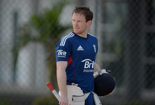 England Twenty20 captain Eoin Morgan will be in action today as his side play their final World Cup warm-up game against India