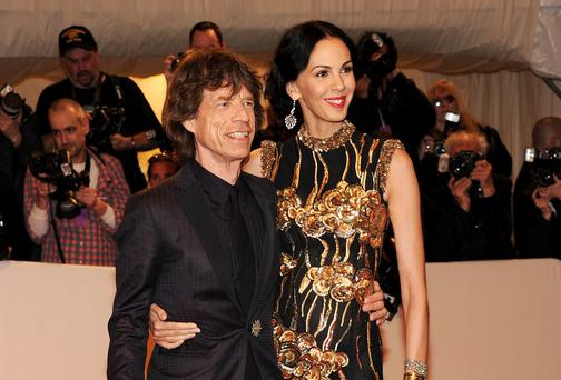 Mick Jagger and Designer L'Wren Scott in 2011