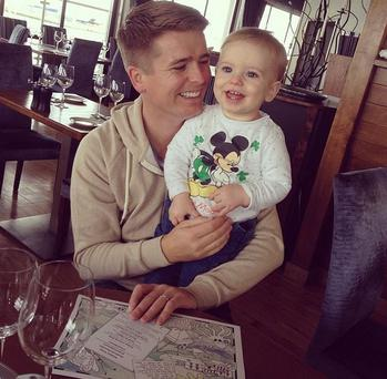 Brian pictured with his son Ollie on St Patrick's Day (Photo: Instagram/ Pipsy Pie)