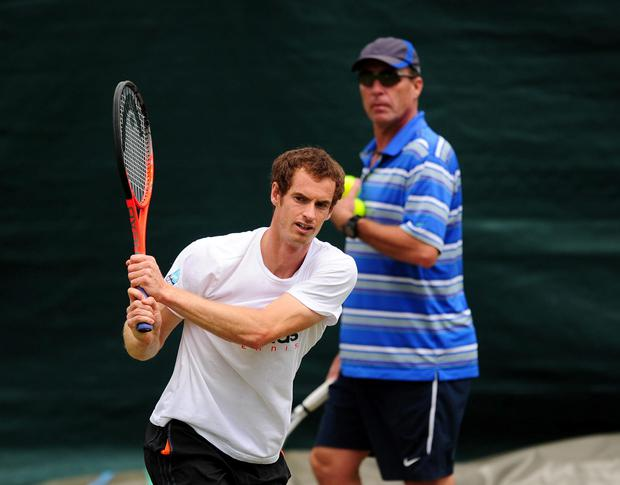 Andy Murray and former coach Ivan Lendl