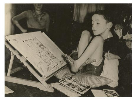 Photo of Christy painting