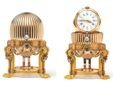 The amazing journey of the Faberge egg began in Tsarist Russia and ended up in a flat above a Dunkin' Donuts