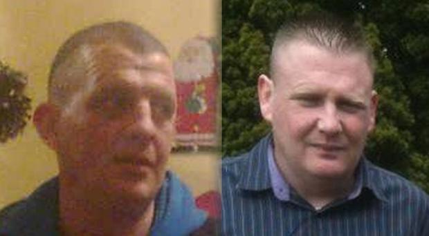 Victims: Greg Lonergan (left) died and Chris Palmer was seriously injured