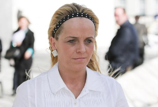 Sharon Rattigan, girlfriend of the murder victim Seamus O'Byrne, at the Central Criminal Court.