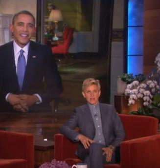 The president joined Ellen DeGeneres on her popular chat show yesterday live from the White House. (Photo: YouTube)