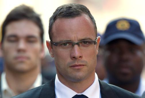 Oscar Pistorius arrives at court for his trial earlier this week