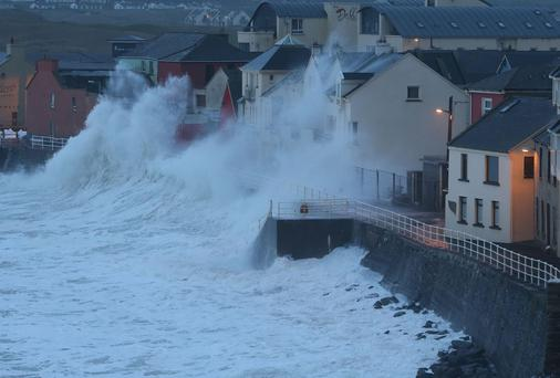 Strong waves on the Irish coast during storms earlier this year, but despite the cost of the damage done to insurers FBD Holdings has said it won't be hiking premiums
