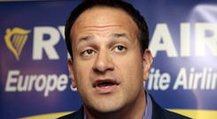 Leo Varadkar,the Minister for Transport,Tourism and Sport, pictured yesterday at a Ryanair press conference, is a future leader in Fine Gael