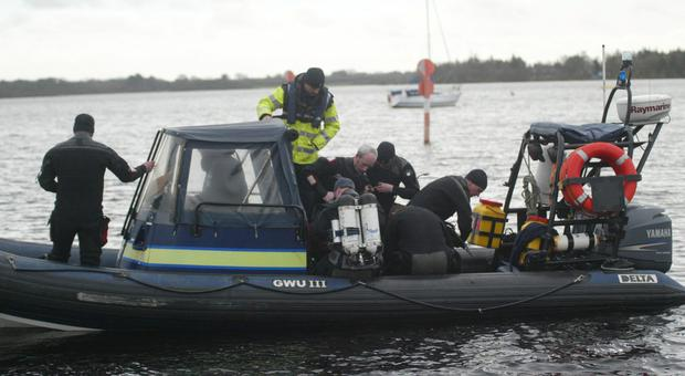Garda Search and Rescue at Lough Ree, Hodson Bay this morning still searching for missing Fisherman. Photo: molloyphotography