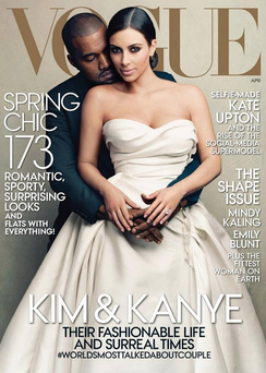 The Vogue covering featuring Kanye and Kim