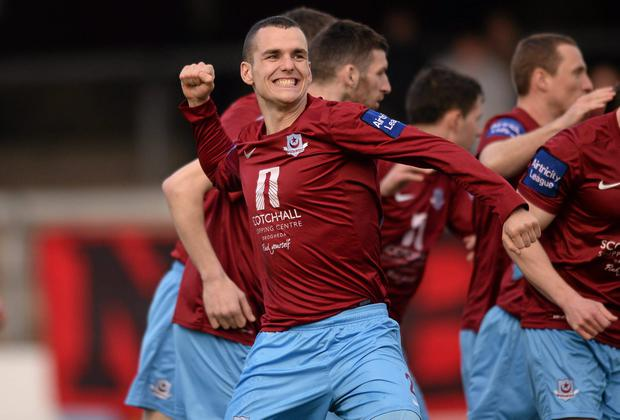 Michael Daly scored to give Drogheda United the lead over Derry City