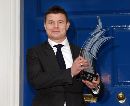 Brian O'Driscoll at the Mansion House where he was conferred Freeman of Dublin City. Photo: Tony Gavin 22/03/2014