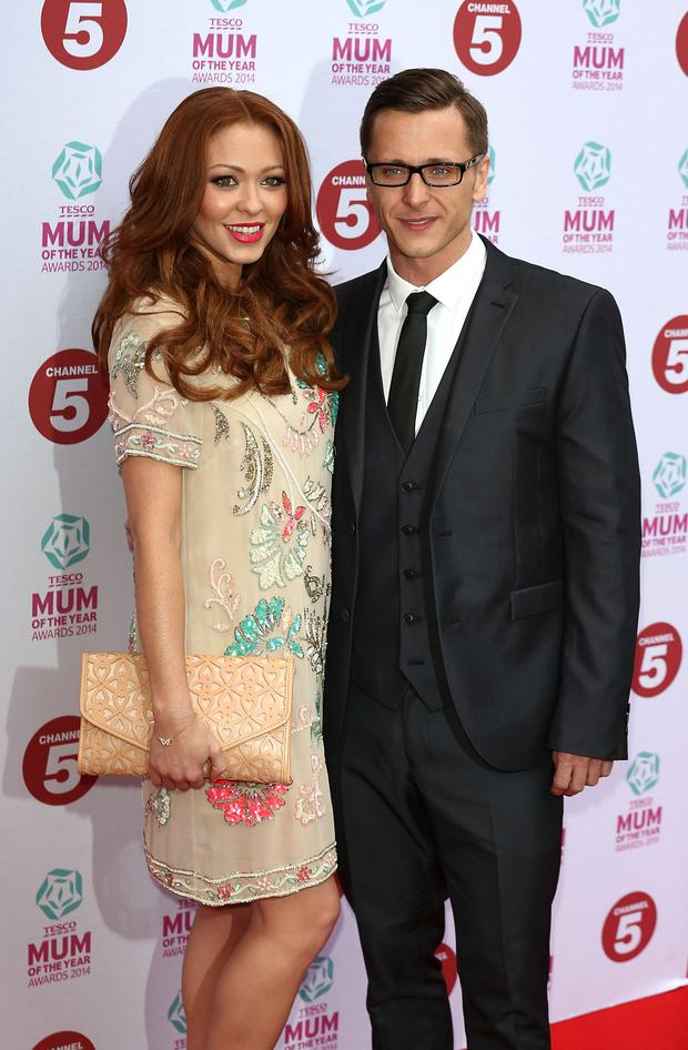 Natasha Hamilton and Ritchie Neville attend the Tesco Mum of the Year awards at The Savoy Hotel on March 23, 2014 in London, England. (Photo by Tim P. Whitby/Getty Images)