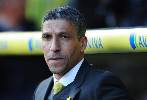 Chris Hughton, manager of Norwich City