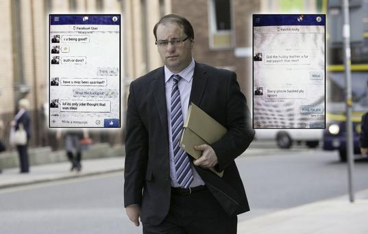 Patrick Nulty and some of the messages he sent