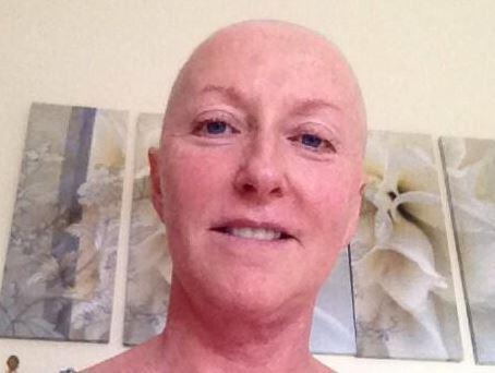 Now that's a selfie: Brave Majella bares all for cancer