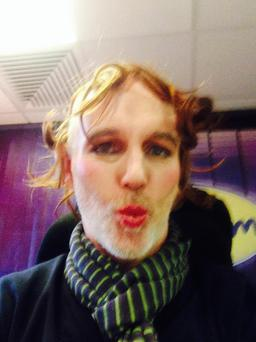 Ray D'Arcy's make-up selfie