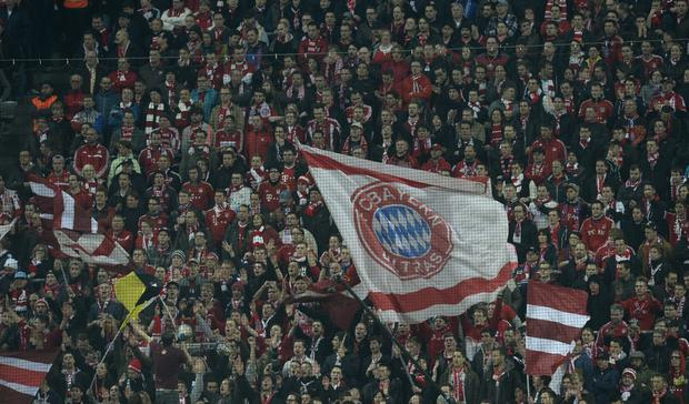 Bayern Munich have been fined and will face a part-closure of the stadium for Manchester United match