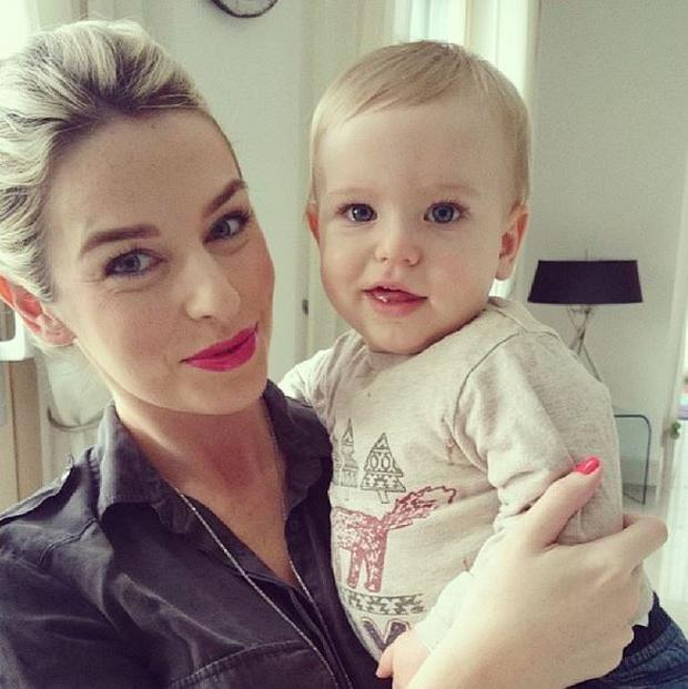 Pippa O'Connor with son Ollie, her first child with presenter husband Brian Ormond. (Photo: Instagram/Pipsypie)