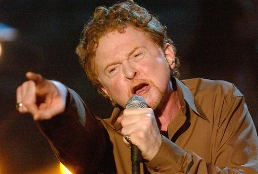 Simply Red singer Mick Hucknall