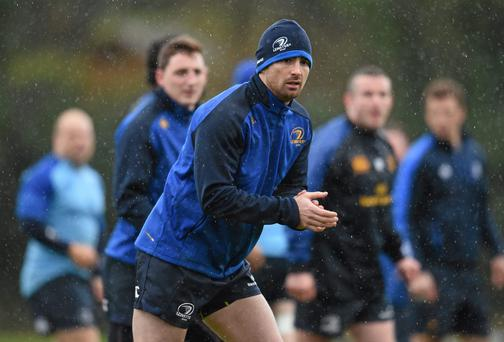 Leinster's Rob Kearney during squad training