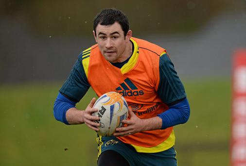 Munster team to face Toulon: 15. Felix Jones