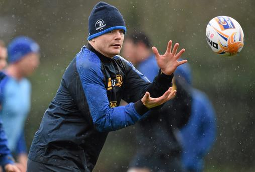 Leinster's Brian O'Driscoll during squad training ahead of their Celtic League game against Munster on Saturday