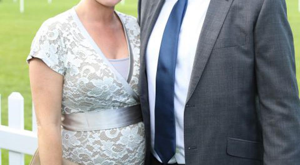 Claire Byrne with fiance Gerry Scollan