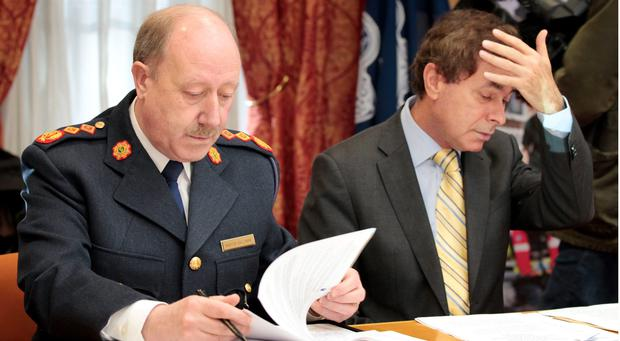 Minister for Justice, Alan Shatter and former Garda Commissioner Martin Callinan