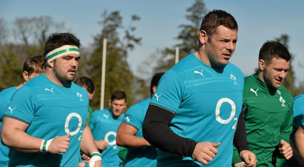 Ireland's Mike Ross in action during squad training