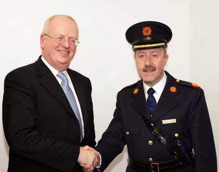 Then Justice Minister Michael McDowell with Martin Callinan as he was appointed Deputy Garda Commissioner in 2007.