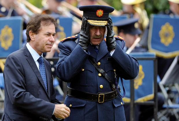 Garda Commissioner Martin Callinan and Justice Minister Alan Shatter