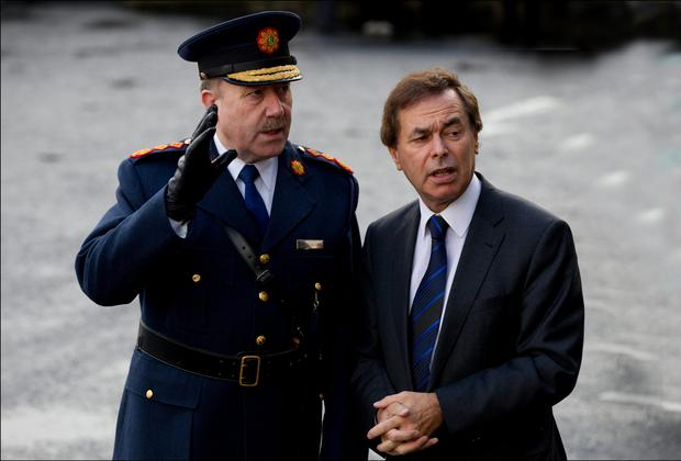 Minister for Justice Alan Shatter and Garda Commissioner Martin Callinan