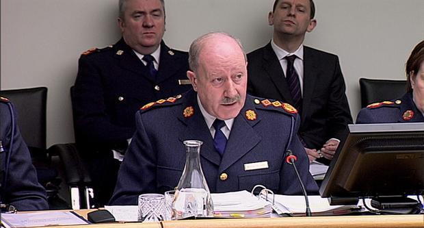 Garda Commissioner Martin Callinan at the Dail's Public Accounts Committee