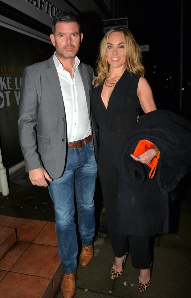 Kathryn Thomas & boyfriend Padraig McLoughlin at an ISPCC Shield Anti Bullying dinner at Bear Restaurant