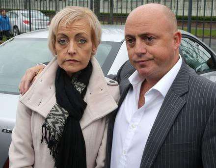 Dave Mahon with partner Audrey Fitzpatrick