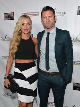 Claudine Keane and Robbie Keane (Photo by Alberto E. Rodriguez/Getty Images for US-IRELAND ALLIANCE)