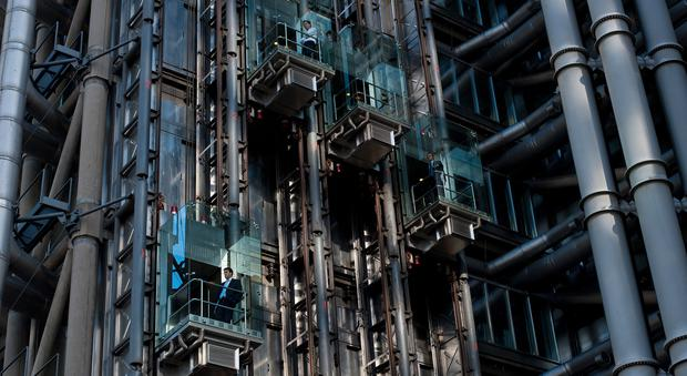 The Lloyds building is pictured in London,