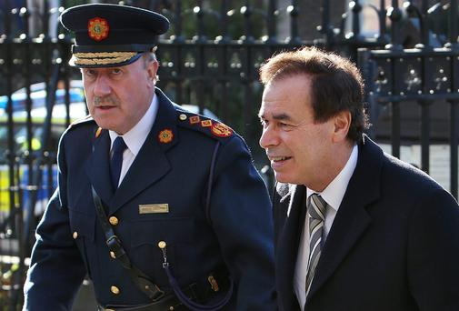Retired Garda Commissioner Martin Callinan and Minister for Justice Alan Shatter