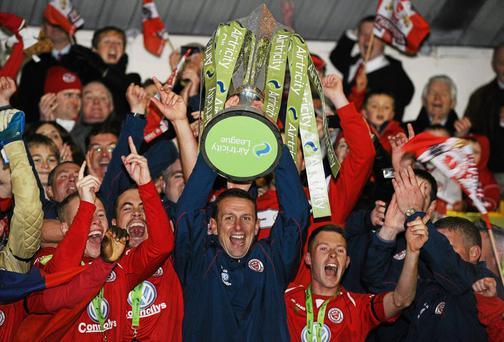 Ian Baraclough's Sligo Rovers lost only three games on their way to winning the league title in 2012