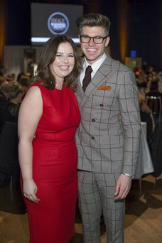 Rosie McMeel & Darren Kennedy pictured at the inaugural IMAGE Business of Beauty Awards in Dublin's Mansion House