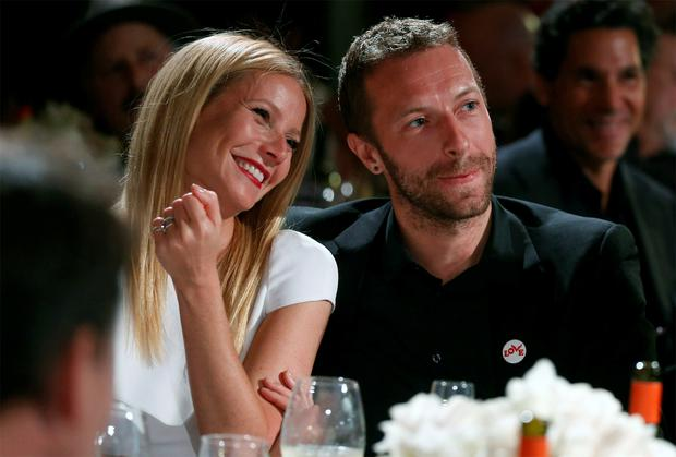 Gwyneth Paltrow, with former husband, singer Chris Martin