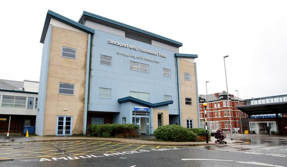 Stepping Hill hospital in Stockport, Greater Manchester, as nurse Victorino Chua, 48, has been charged with three counts of murder. Photo: Dave Thompson/PA Wire