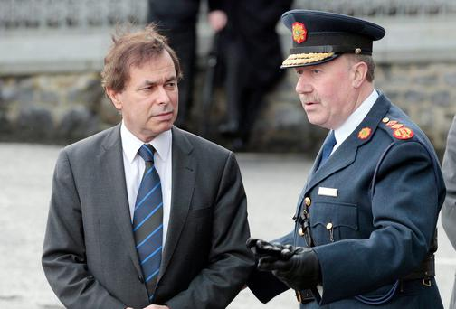 Minister for Justice Alan Shatter and former Garda Commissioner Martin Callinan